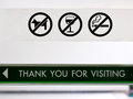 Set of prohibit sign at cafeteria s door include no dogs no alcohol and no smoking Royalty Free Stock Images
