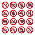 Set of Prohibited Signs Royalty Free Stock Image