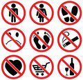 Set of prohibition signs Royalty Free Stock Photography