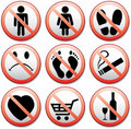 Set of prohibition signs Royalty Free Stock Images