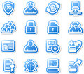Set of protection icons. Royalty Free Stock Images