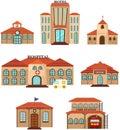 Set of public building