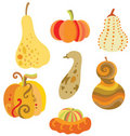 Set of Pumpkins Royalty Free Stock Photo