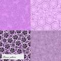 Set of purple floral patterns seamless pattern can be used for wallpaper website background textile printing Stock Images