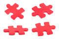 Set of puzzle pieces Royalty Free Stock Photo