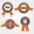 Set of quality retro labels Royalty Free Stock Photo