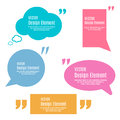 Set Of Quotation Mark Speech Bubbles. Quote sign icon.