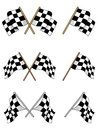 Set of racing checkered flags Royalty Free Stock Image