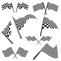 Set of racing flags Royalty Free Stock Photo
