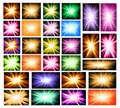 Set of Ray lights Explosion Royalty Free Stock Photo