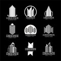 Set of real estate logo designs, Building logo design Royalty Free Stock Photo