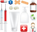 Set of realistic medical illustration and icons Stock Image