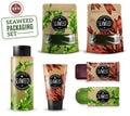 Realistic Sea Weed Cosmetic Packaging