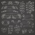 Set of Realistic transparent ribbons. Element of decoration gifts, greetings, holidays, Valentines Day design. Vector