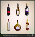 Set of realistic wine bottles see more collection Royalty Free Stock Photo