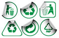 Set of recycle labels Royalty Free Stock Photo