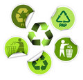 Set of recycle labels Royalty Free Stock Photos