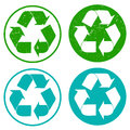Set of recycling stamps Royalty Free Stock Photo