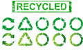 Set of recycling symbols Royalty Free Stock Photos