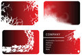 Set of red business cards Royalty Free Stock Photo
