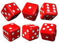 Set of red casino craps Royalty Free Stock Photography