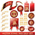 Set of red price tags Royalty Free Stock Photo