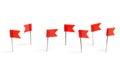 Red flag push pins Royalty Free Stock Photo
