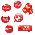 Set Of Red Sale Elements Royalty Free Stock Photos