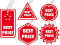 Set of red vector tag Royalty Free Stock Photo