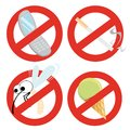 Set of restrictive signs Royalty Free Stock Photo