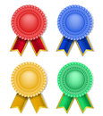 Set of retro award and ribbons Royalty Free Stock Image