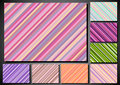 Set of retro background with stripes Royalty Free Stock Photos
