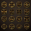 Set of Retro Gold and Black Premium Quality Badges