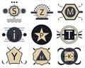 Set of retro hipster vintage badges, ribbons and labels
