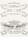 Set of retro label style page elements and Royalty Free Stock Photos
