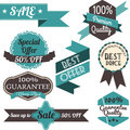 Set of retro labels and banners sale vector illustration Royalty Free Stock Images