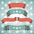 Set of retro patriotic banners vector illustration Royalty Free Stock Images