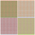Set of retro patterns four in style vector illustration Stock Image