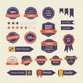 Set of Retro Quality Labels  Badges Stock Photos