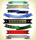 Set of retro ribbon ribbons and labels vector illustration Stock Photo