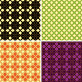 Set of retro seamless patterns four vector Stock Images