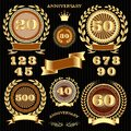 Set retro signs for the anniversary vector Stock Images