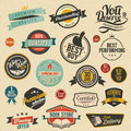 Set of retro stickers nice labels all elements are separate objects Stock Photo