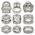 Set retro variation vintage labels (11) Stock Images