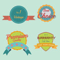 Set of retro vintage badges and labels pastel Stock Photo