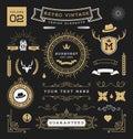 Set of retro vintage graphic design elements