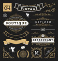 Set of retro vintage graphic design elements Royalty Free Stock Photo