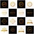 Set of Retro Vintage Insignias or Logotypes. Vector design elements, business signs, logos, identity, labels, badges and objects.