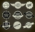 Set of retro vintage labels vector illustration this is file eps format Royalty Free Stock Images