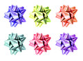 Set of ribbon bows. Royalty Free Stock Photo
